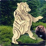 나무공작/회색곰/나무판2장