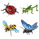 3D입체퍼즐곤충4종세트/무당벌레/메뚜기/꿀벌/나비