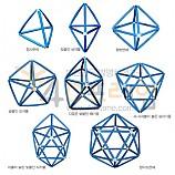 4D프레임 정삼각형으로 이루어진 입체도형 델타다면체