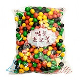 둥근 색깔초콜릿/초콜렛/초코렛/1kg
