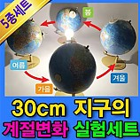 20%↓> 30cm 지구의 계절변화 실험세트 (5종 세트) - 각도조절/자석부착 기능