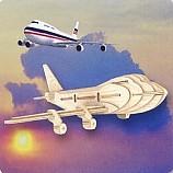 나무공작/보잉747비행기/나무판4장