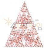 4D프레임 시에르핀스키 피라미드 이등변 4단계