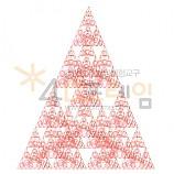 4D프레임 시에르핀스키 피라미드 이등변 5단계