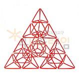 4D프레임 시에르핀스키 피라미드 (정삼각 2단계)
